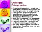 challenges data generation