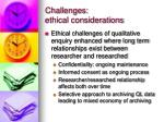 challenges ethical considerations