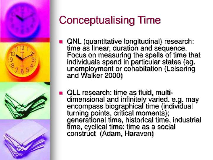 Conceptualising Time