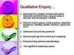 qualitative enquiry