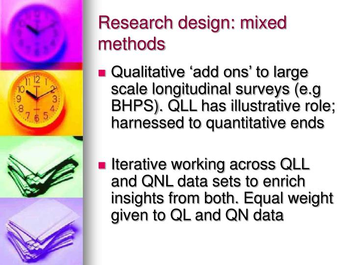 Research design: mixed methods