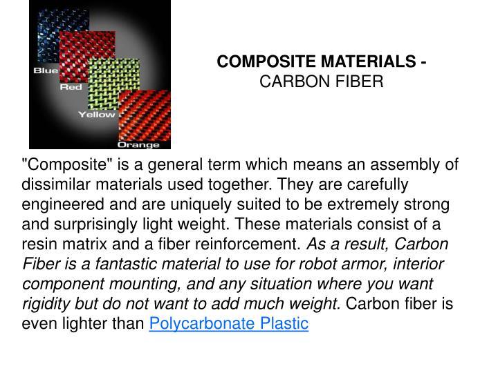 COMPOSITE MATERIALS -