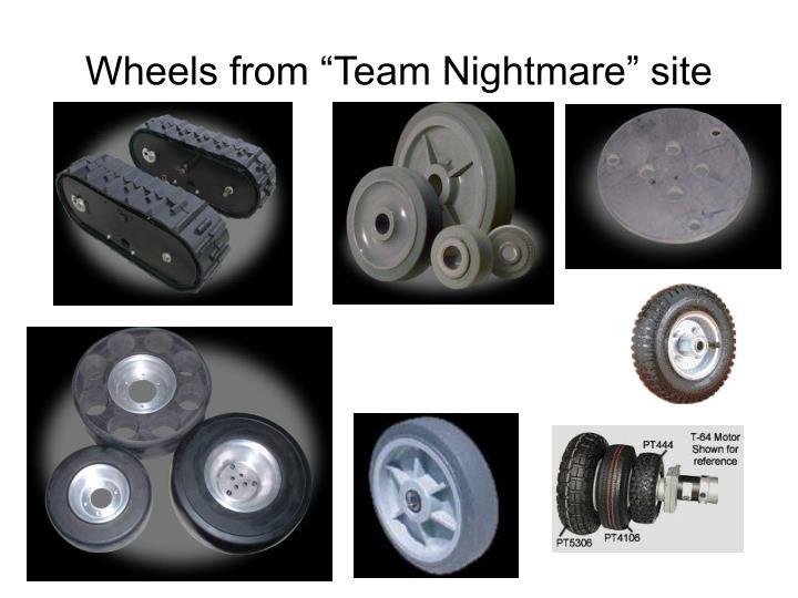 "Wheels from ""Team Nightmare"" site"