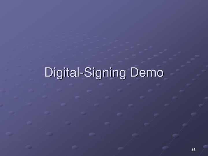 Digital-Signing Demo