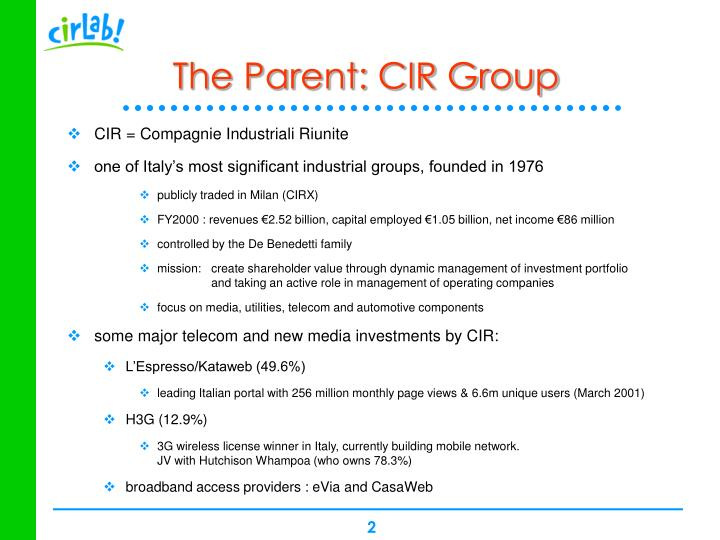 The parent cir group