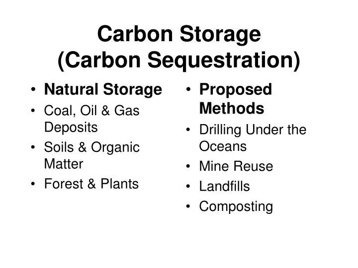 Natural Storage