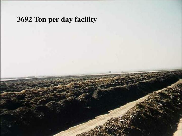 3692 Ton per day facility
