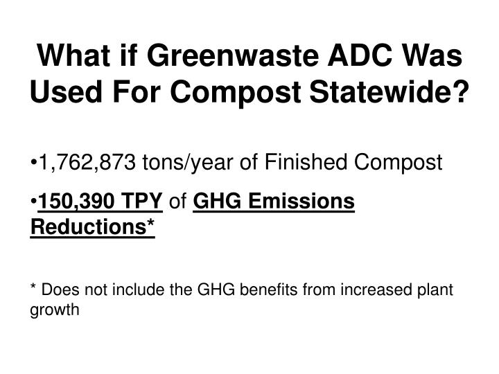 What if Greenwaste ADC Was Used For Compost