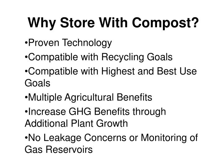 Why Store With Compost?