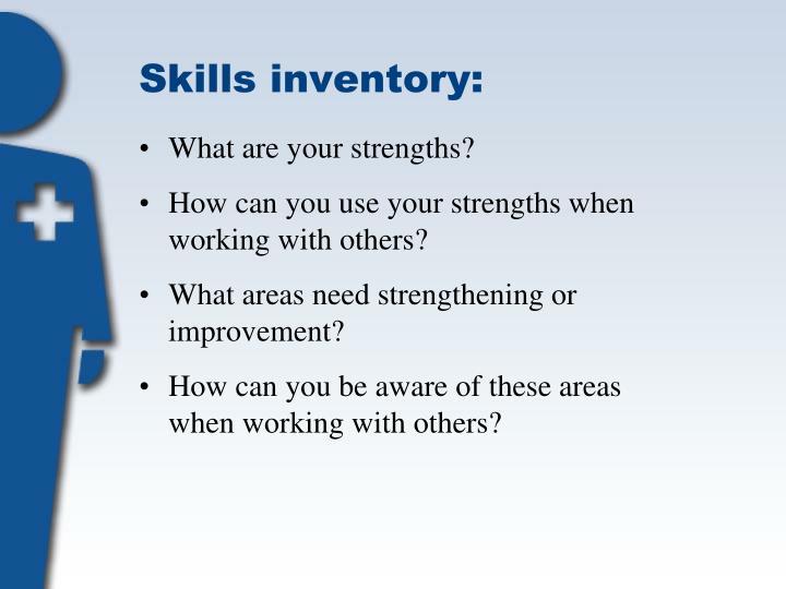 Skills inventory: