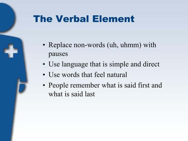 The Verbal Element