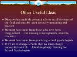 other useful ideas