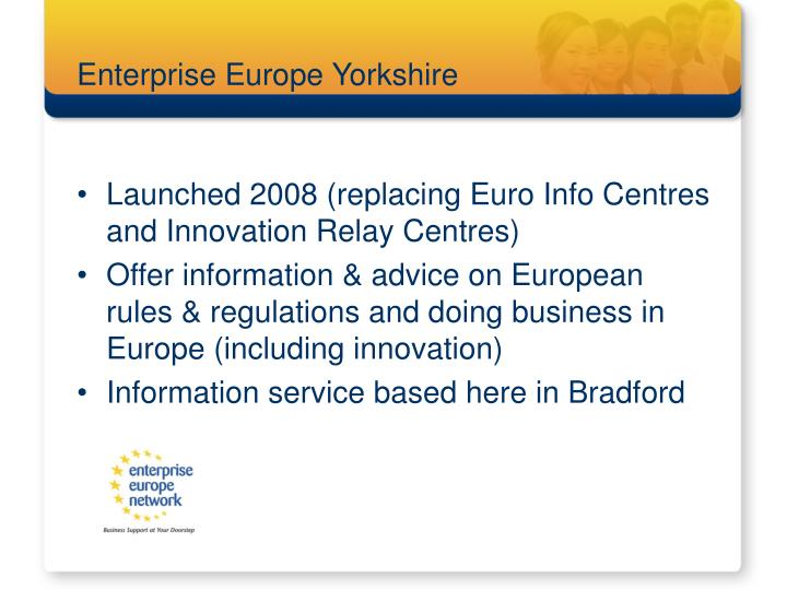 Enterprise europe yorkshire