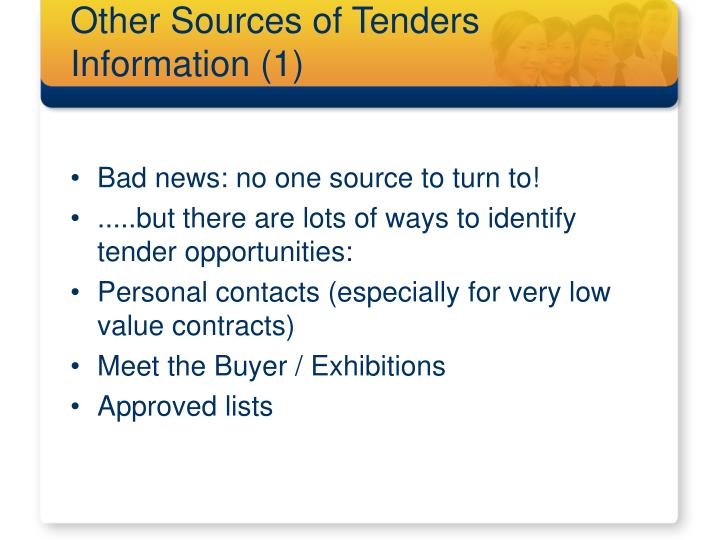 Other Sources of Tenders Information (1)