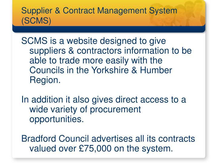 Supplier & Contract Management System (SCMS)