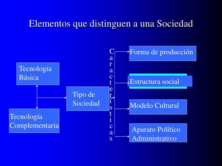 Elementos que distinguen a una Sociedad