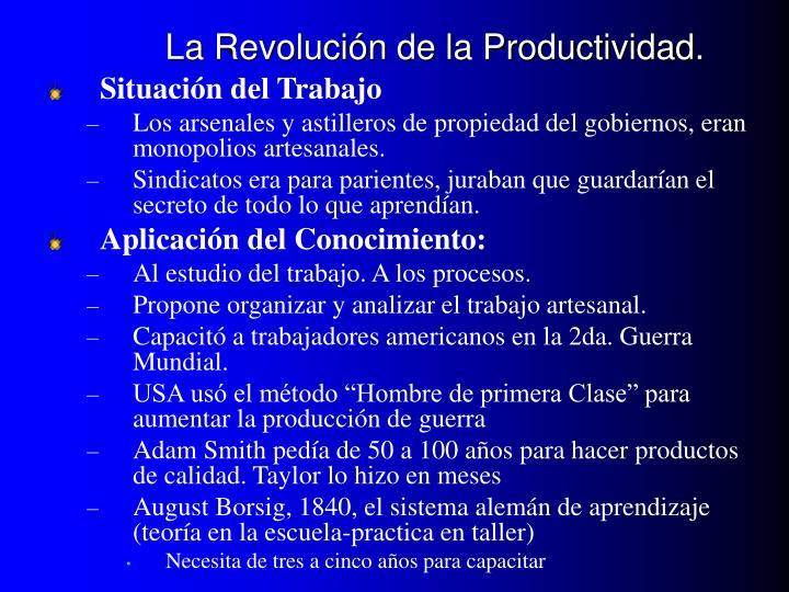 La Revolución de la Productividad.