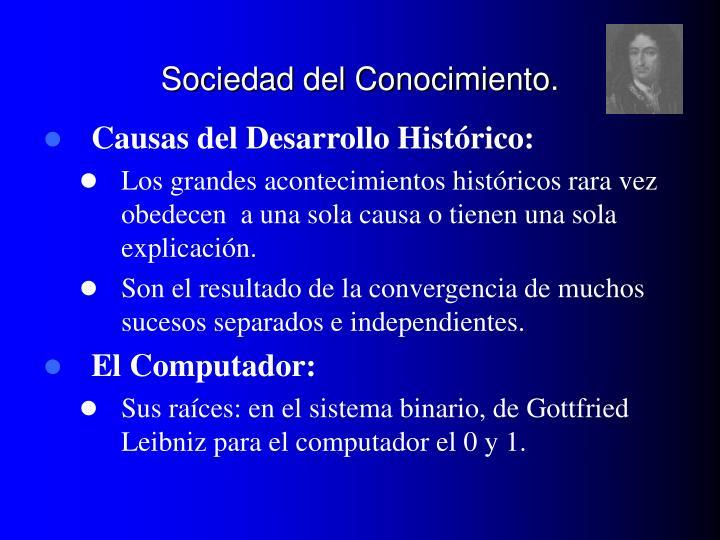 Sociedad del Conocimiento.