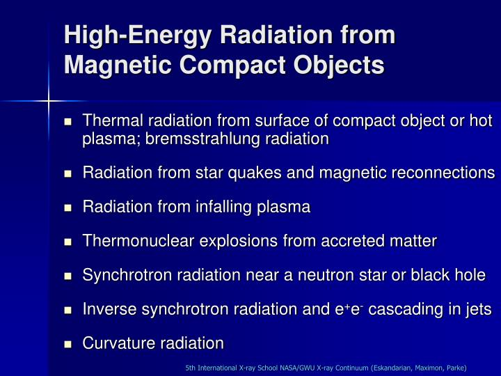 High-Energy Radiation from Magnetic Compact Objects