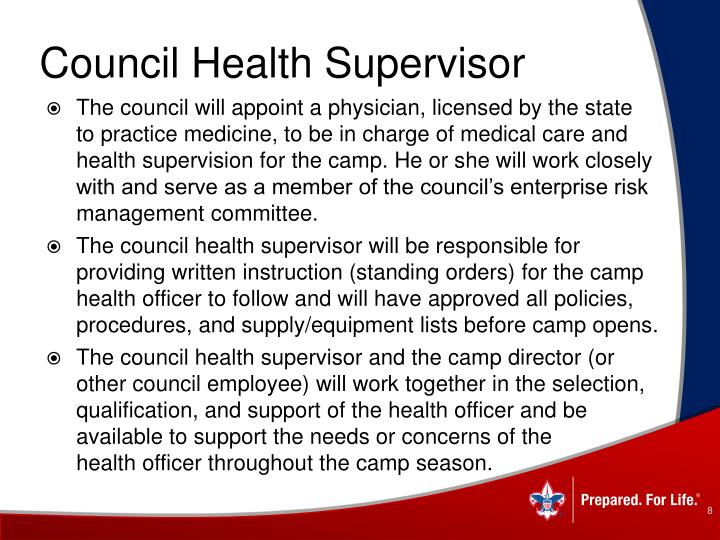 Council Health Supervisor