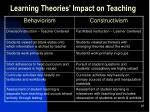 learning theories impact on teaching