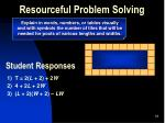 resourceful problem solving