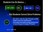 students can do basics