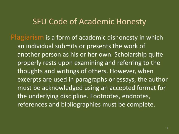academic integrity and plagiarism Academic integrity is a basic principle, which requires that students take credit only for ideas and efforts that are their own cheating, plagiarism, and other forms of academic dishonesty are defined as the submission of materials in assignments, exams, or other academic work that is based on.