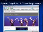 motor cognitive visual impairment