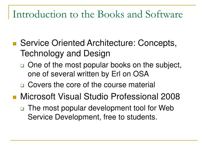 Introduction to the Books and Software