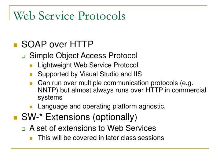 Web Service Protocols