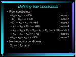 defining the constraints1