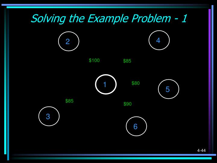 Solving the Example Problem - 1