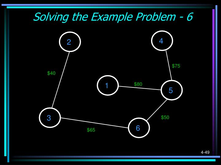 Solving the Example Problem - 6