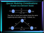 special modeling considerations multiple arcs between nodes
