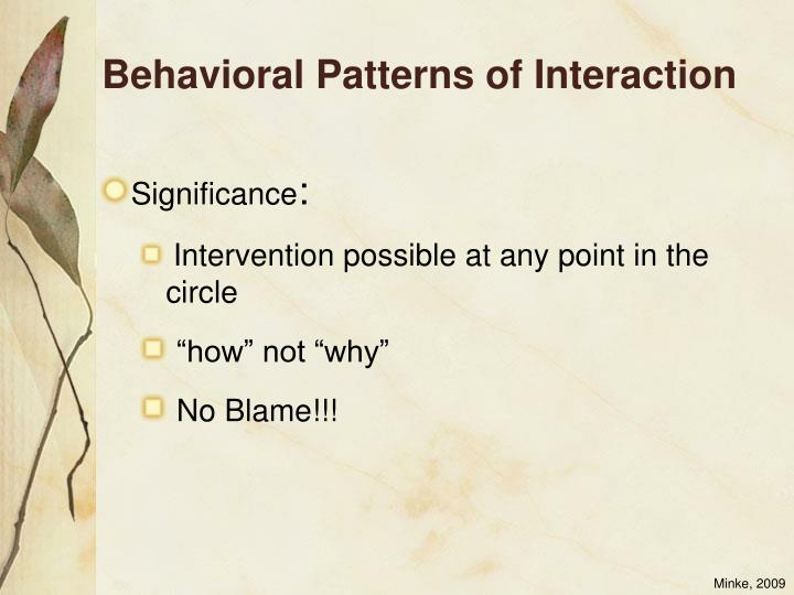 Behavioral Patterns of Interaction