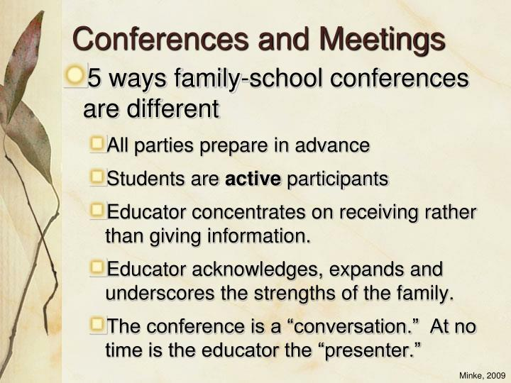 Conferences and Meetings