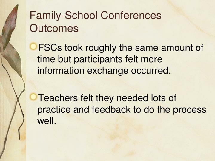 Family-School Conferences Outcomes