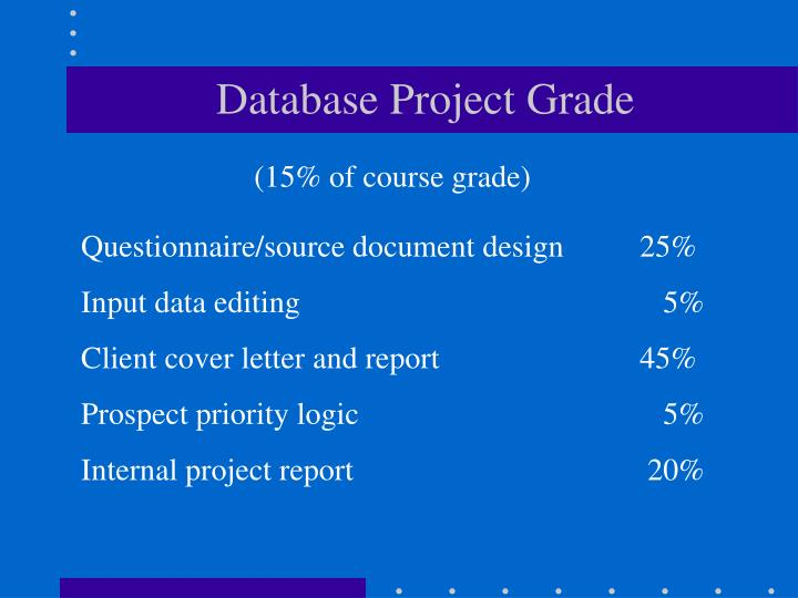 Database Project Grade