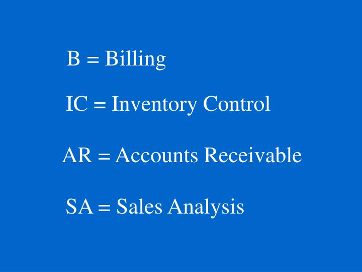 B = Billing