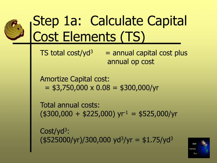 Step 1a:  Calculate Capital Cost Elements (TS)