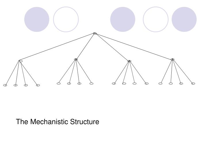 The Mechanistic Structure
