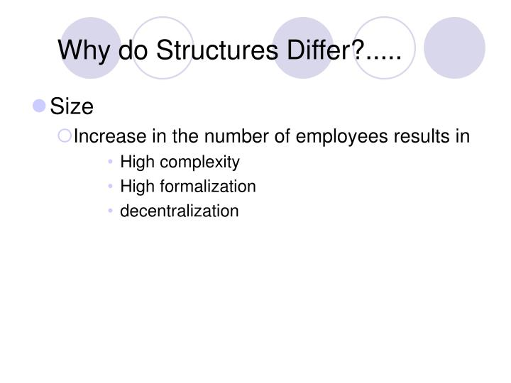 Why do Structures Differ?.....