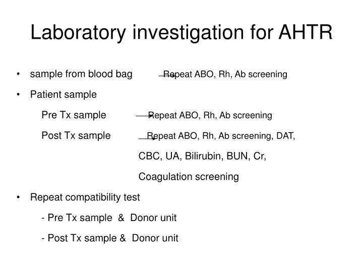 Laboratory investigation for AHTR
