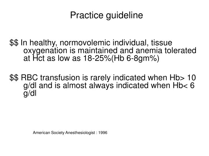 Practice guideline