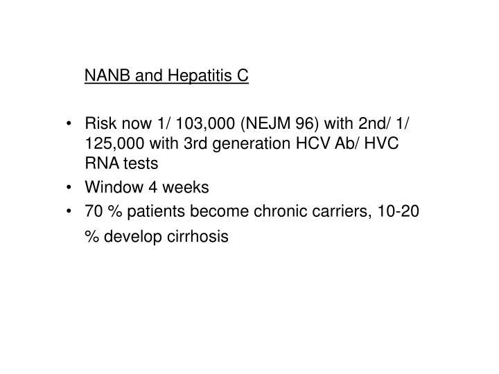 NANB and Hepatitis C