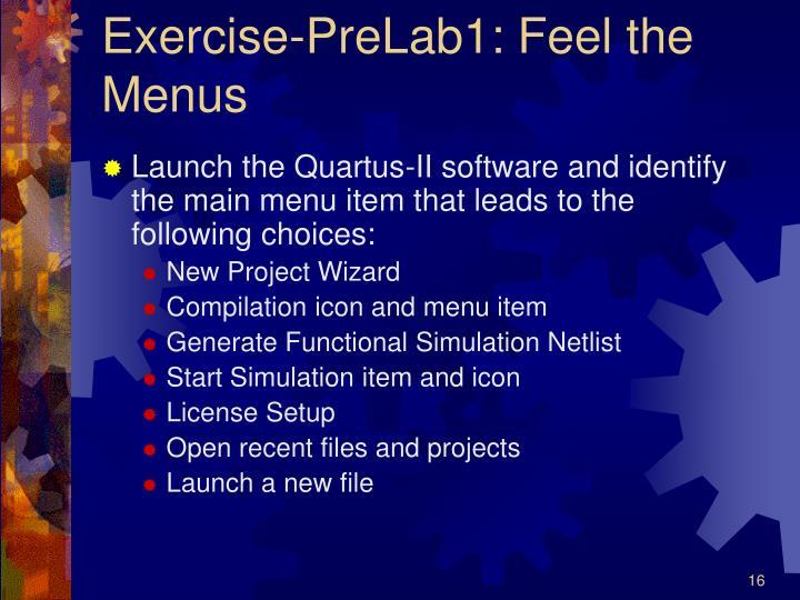 Exercise-PreLab1: Feel the Menus