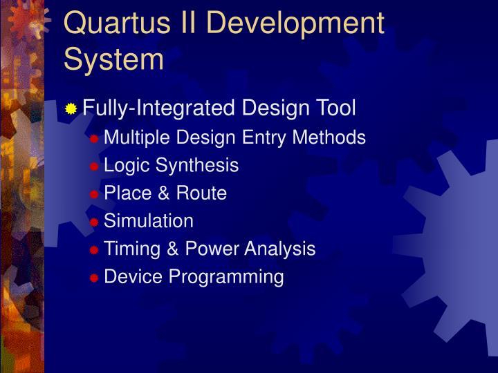 Quartus II Development System