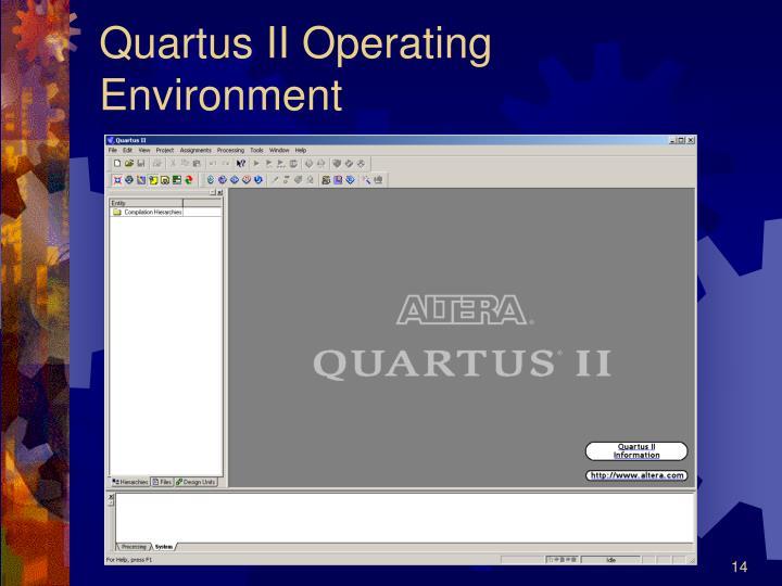 Quartus II Operating Environment