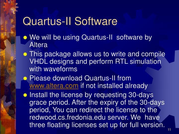 Quartus-II Software